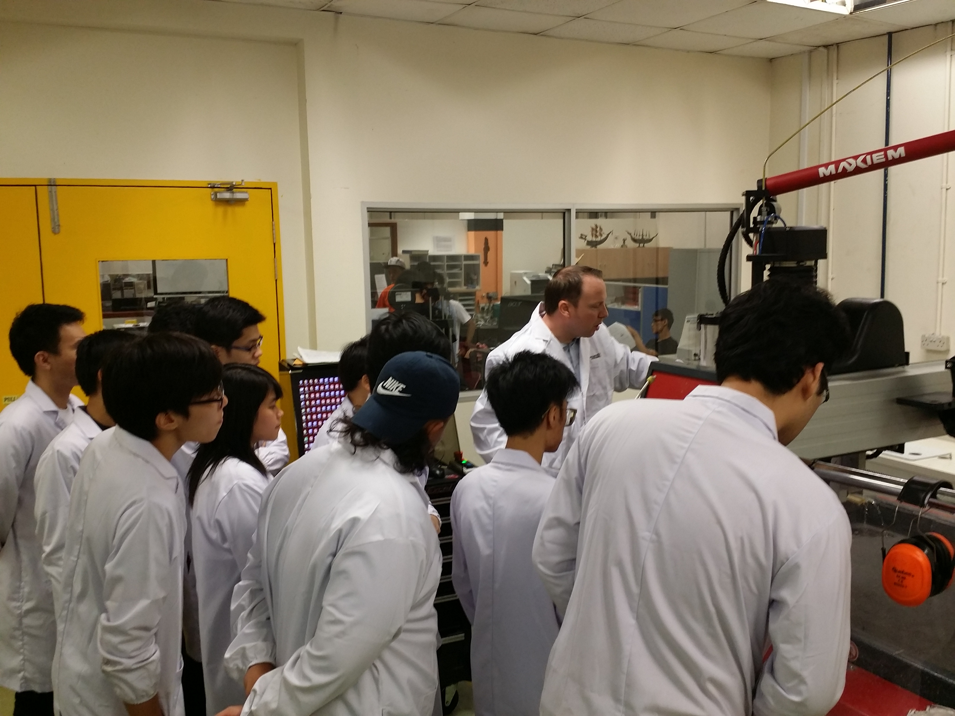 Students from Singapore Polytechnic learning about SOLIDWORKS