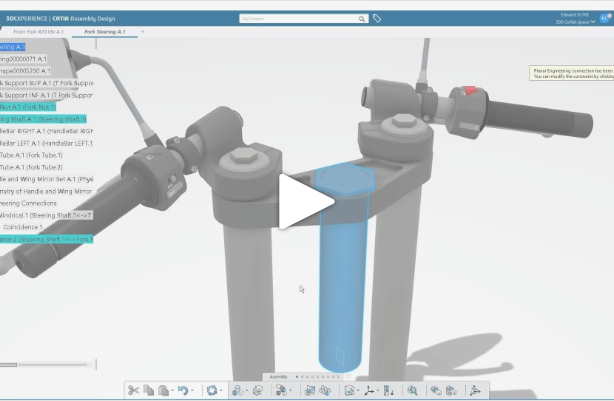 3DEXPERIENCE CATIA R2018x | Contextual Toolbar adoption in Assembly Design