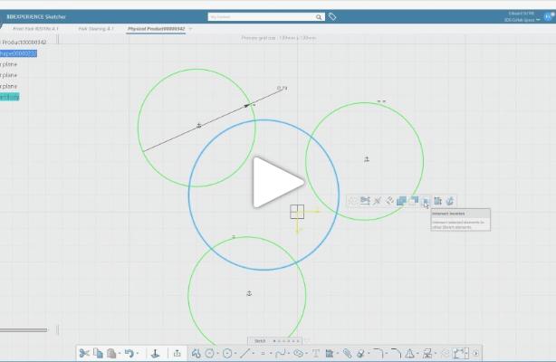 3DEXPERIENCE CATIA R2018x | Sketcher enhancements