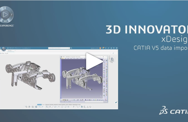 Import CATIA V5 data in CATIA xDesign