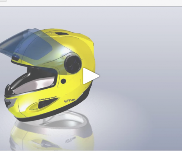 CATIA COMPOSER for HELMET assembly (Home&LifeStyle Industry)