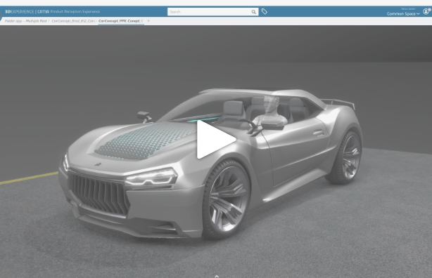 Concept Car created with CATIA Design Applications on the 3DEXPERIENCE Platform