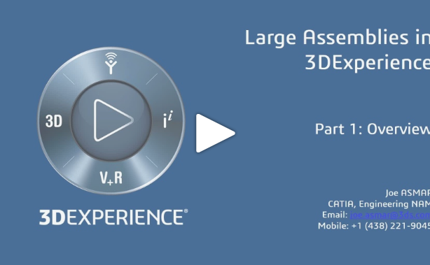 Large Assemblies in the 3DEXPERIENCE Platform Video Series – Part 1: Overview