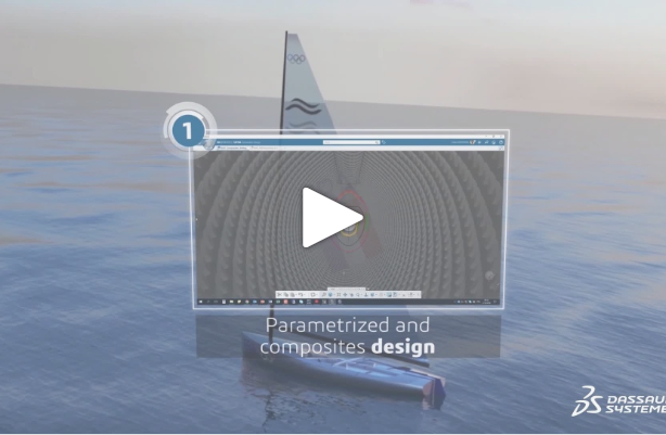 Finn mast project – Episode 1: Parametrized and Composites Design