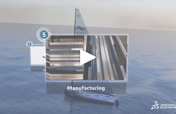 Finn mast project – Episode 5: Composite carbon mast manufacturing based on 3DEXPERIENCE virtual model