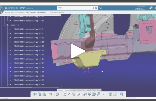 Fasteners hold everything together: An overview presentation and demo of CATIA 3DExperience Fastening Application