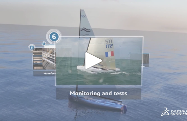 Finn mast project – Episode 6: Mast testing & monitoring to enhance understanding of 3DEXPERIENCE virtual model