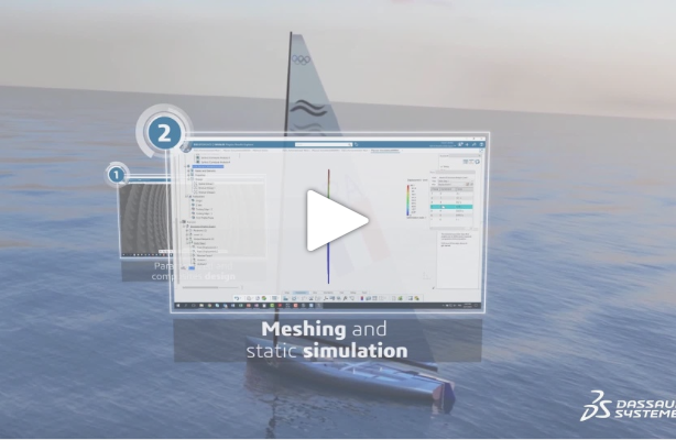 Finn mast project – Episode 2: Static composite simulation using parametrized design