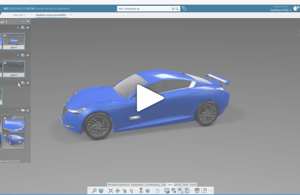 Getting Started with CATIA Product Perception Experience