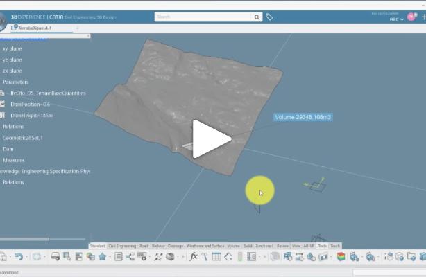 CATIA Civil Engineering Tutorial : Parametric Dam