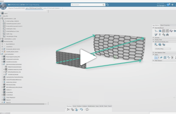 Grille Pattern Overview Using 3DEXPERIENCE CATIA