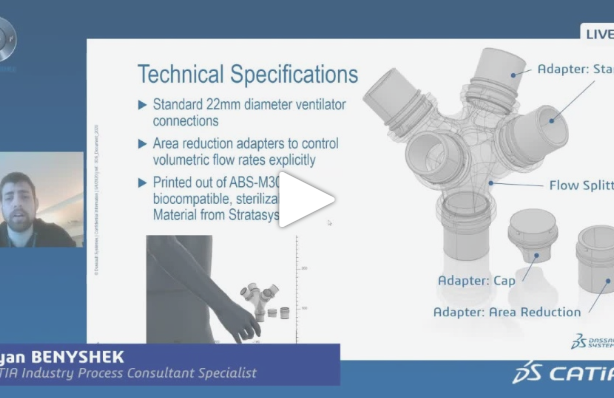 CATIA Talk | Splitter to ventilate 4 patients