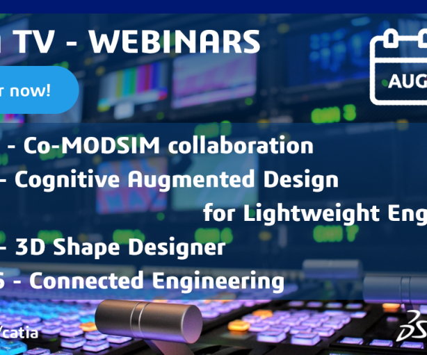 CATIA TV – Webinars for August and September!