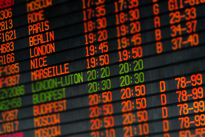 Departures and arrivals electronic schedule