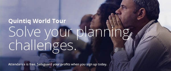 Solve your planning challenges at the Quintiq World Tour