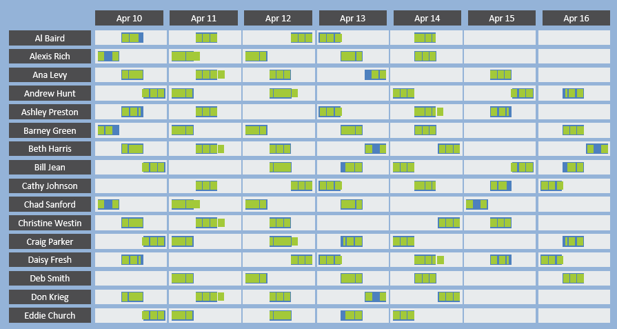 field service schedule