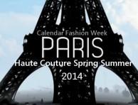 haute couture calendar SS 2014