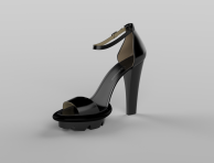 Sandal Black 3D Image (1)