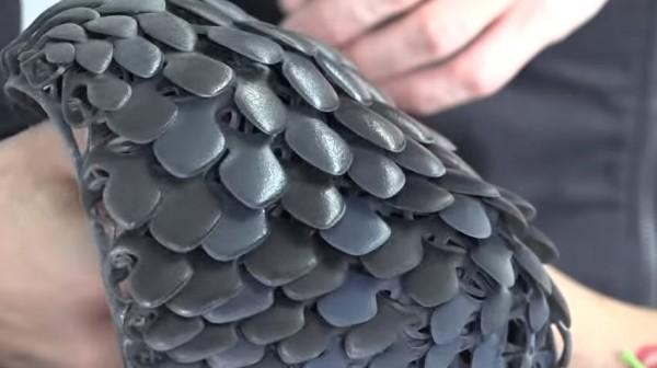 Stratasys pangolin 3D printed fabric
