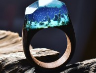miniature-worlds-rings-Snowing Forest