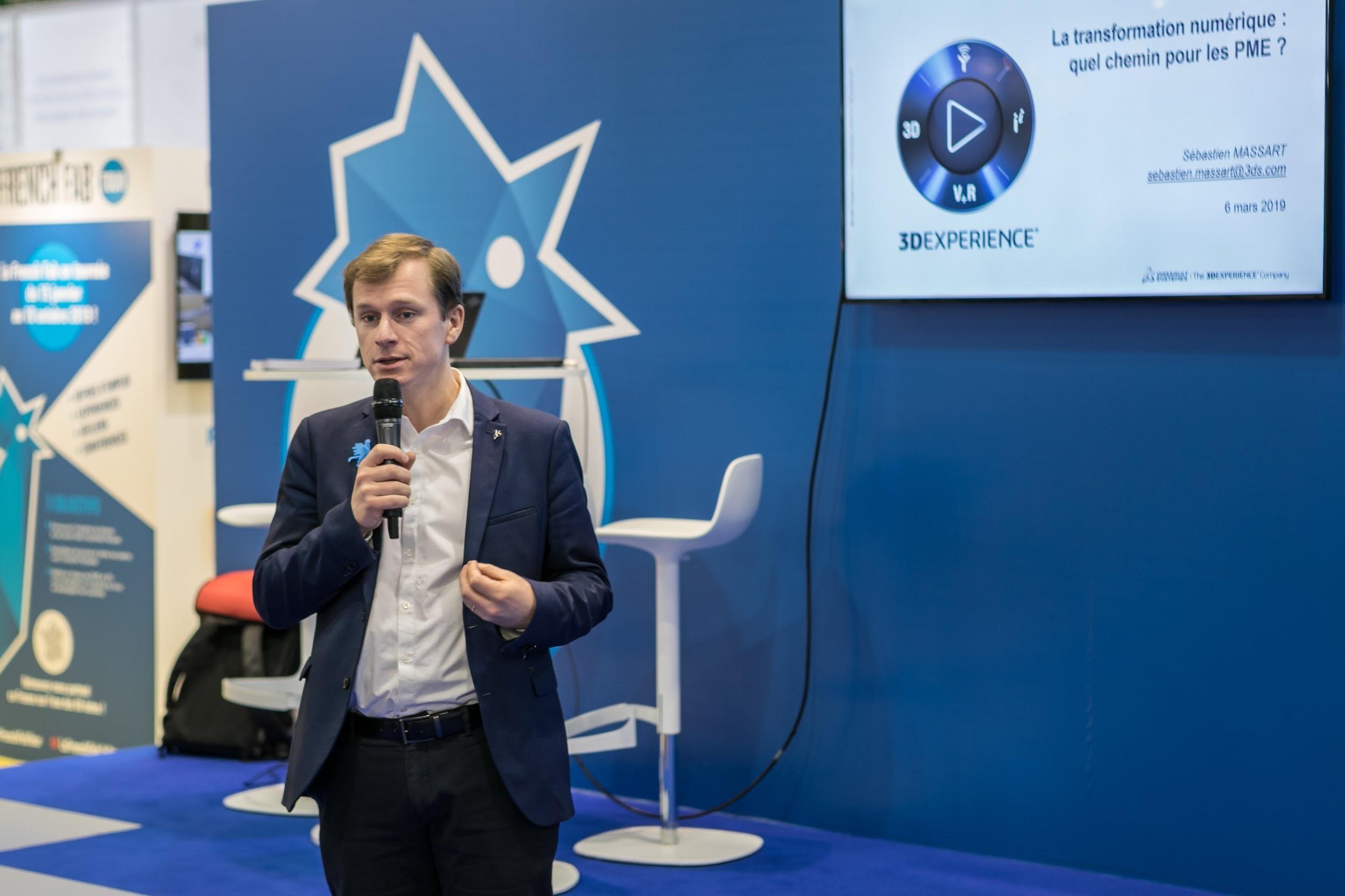 """new product 0c07b 2d406 Sébastien Massart, Directeur de la Stratégie de Dassault Systèmes, explique  que """"l élément fondamental de toute réflexion d une PME sur sa  transformation, ..."""