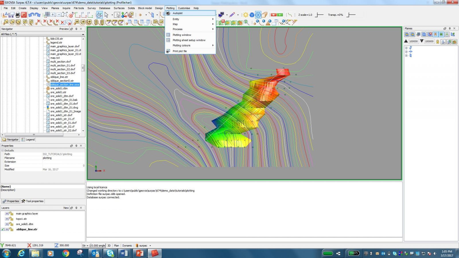 Improve Plotting in GEOVIA Surpac with DraftSight integration
