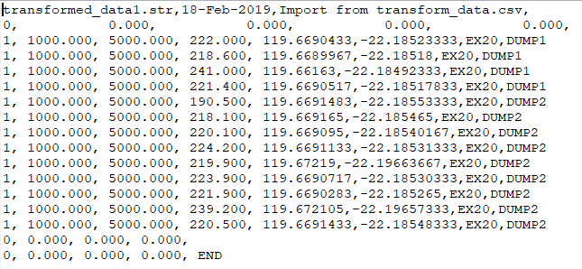 File conversion from Latitude and Longitude to a grid