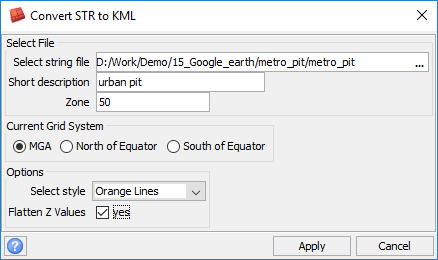Learn how to display Surpac Data in Google Earth