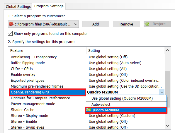 How to improve Surpac performance by configuring the graphics card