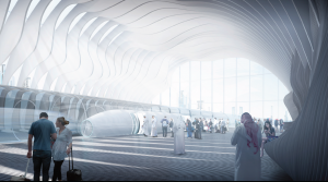 Potential Hyperloop station, courtesy of UCLA, AUD & AN.ONYMOUS