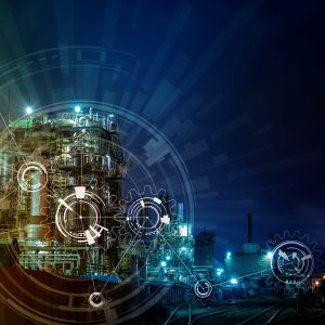 modern manufacturing industry and mechanization concept, abstract image visual