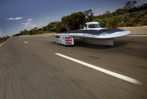 F1 Star Jenson Button Launches Cambridge University's Solar Race Car