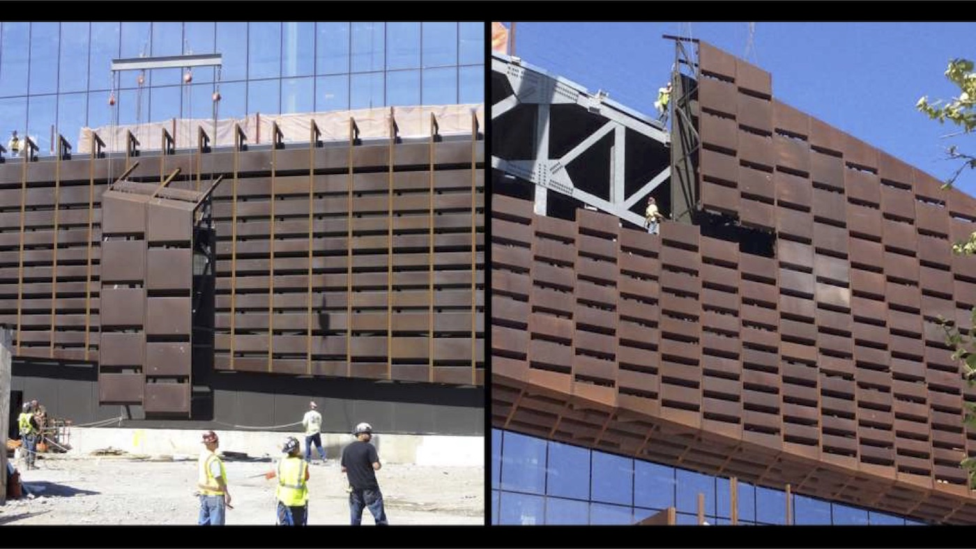 Barclays Center: Installation of 12,000 unique panels