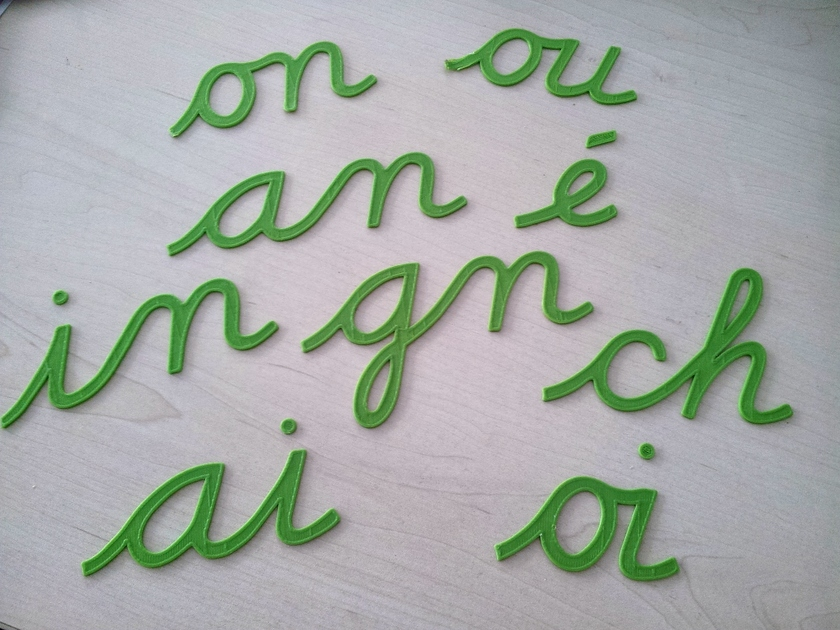 3D printed letters