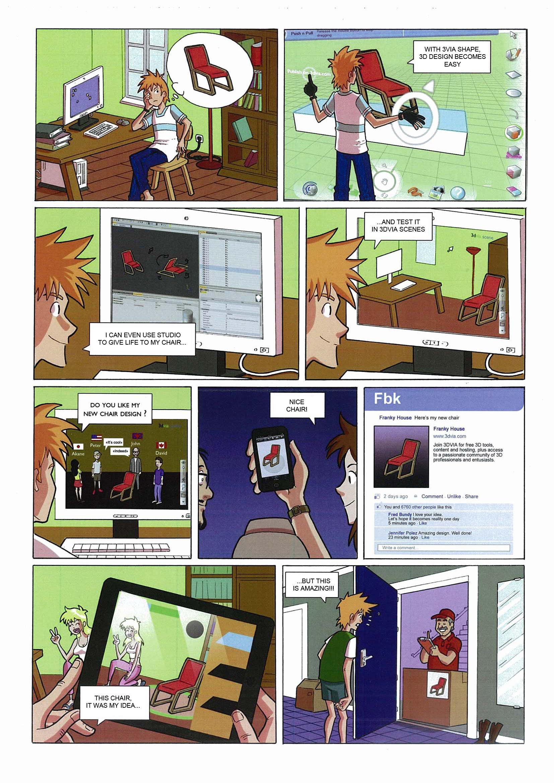 3DVIA Comic Book – 3D Content creation
