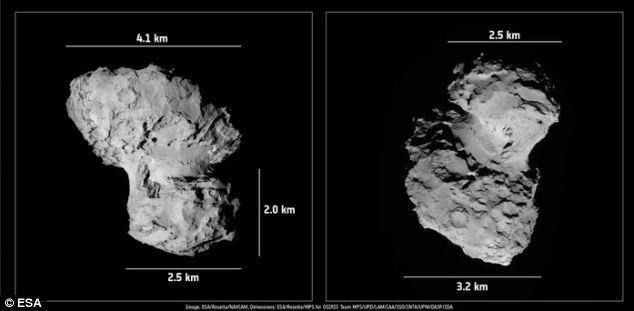 67p comet photos