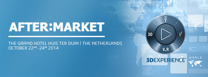 """Dassault Systèmes will talk """"Services"""" during the After:Market Conference, October 22– 24, 2014"""