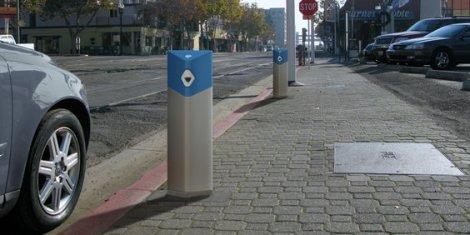 Road side EV charging meters