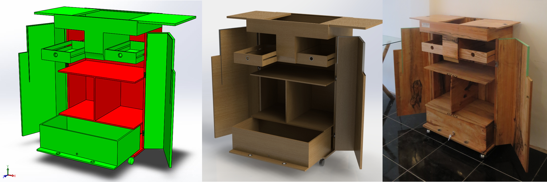 The Cabinet - Leapfrog Design from 3D to real