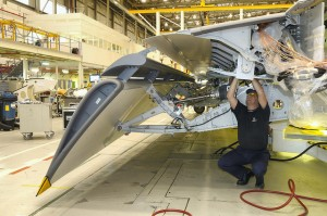 Composite wing flap at Airbus