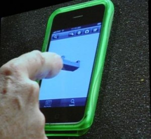 Bernard Charles demoing the 3DVIA Mobile app at DSCC 2009