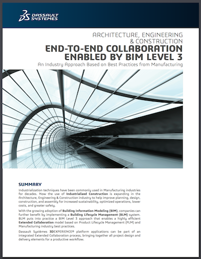 Building Lifecycle Management Fosters a BIM Level 3 Approach for End-to-End AEC Collaboration [Whitepaper]