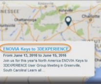 ENOVIA Keys to 3DEXPERIENCE – North America User Group Meeting