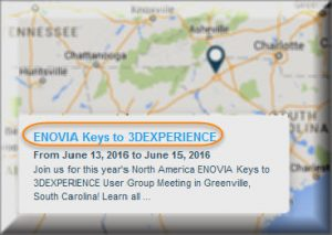 ENOVIA Keys to 3DEXPERIENCE - North America - Greenville, Sout Carolina