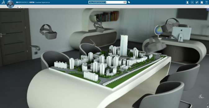 screen shot of virtual collaboration space