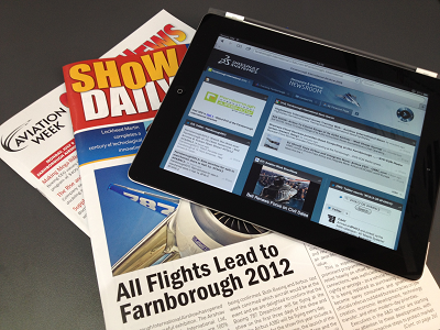Live from Farnborough Airshow 2012: it's all about Experience
