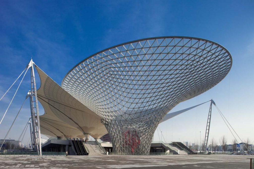 Lovely A Steel Lattice Structure Constructed For Shanghai Expo 2010. Image  Courtesy: Shanghai Xian Dai Architectural Design Group.