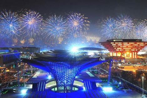 Fireworks at Shanghai World Expo