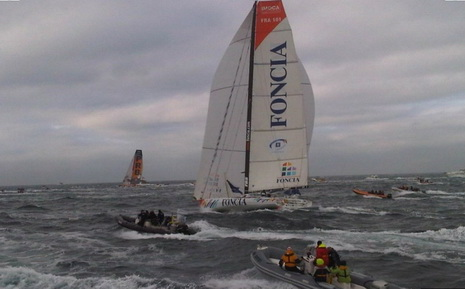 FONCIA starts the Route du Rhum - photo (c) Foncia, used by permission