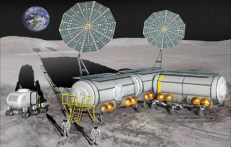 Inflatable Lunar Habitat - Coutesy ILC Dover